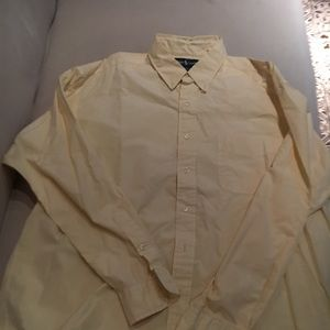 Ralph Lauren button down shirt light yellow